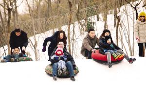 南翠屏儿童滑雪场公园开放区滑雪享受冬日主题情趣酒店房情趣益阳图片
