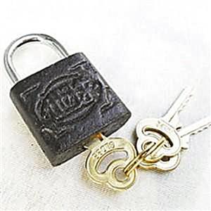 一字形锁最容易被撬开。