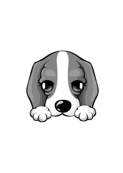 小狗脸卡通图画