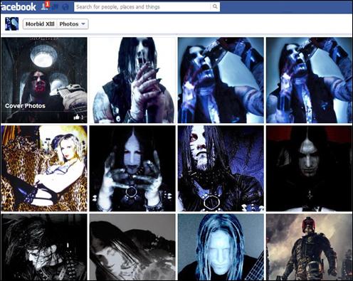 莫比德的Facebook首页充满了血腥、死亡和恐怖视频。(网页截图)