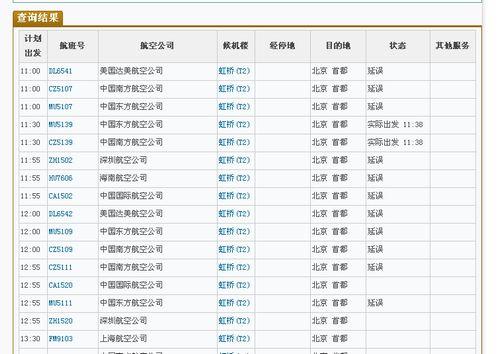 上海飞往北京的多架次航班延误