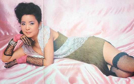 邓丽君1985年登上日本版阁楼杂志的照片