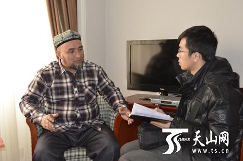 政协委员阿布里米提?艾合买托合提接受天山网记者独家专访。