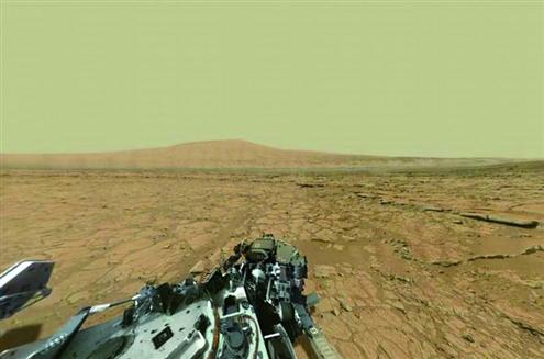 美科学家合成火星全景照片