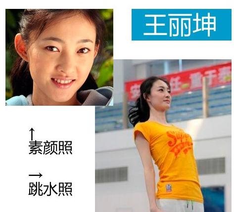 张柏芝王丽坤刘雨欣 女明星跳水素颜照比拼(图)
