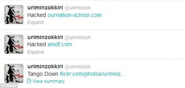 """自称""""匿名者""""的黑客组织攻击朝鲜官方账号。"""
