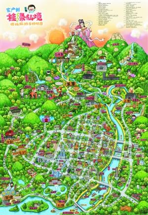 徐振标告诉记者,目前该份手绘地图已印制了1000份,其中300份将在荔城