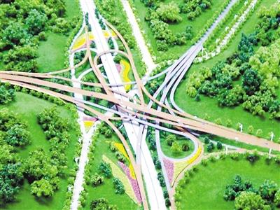主城最复杂立交部分匝道通车 一期工程5月全部开通