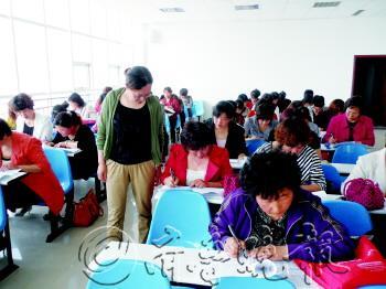 胶州市胶北街道办事处计生办组织开展村级计生主任考试图片