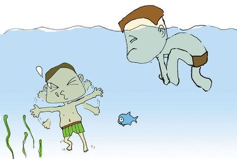 幼儿防溺水宣传画