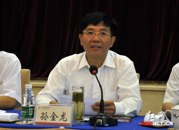 湖南省委副书记孙金龙接见团十七大代表(图)