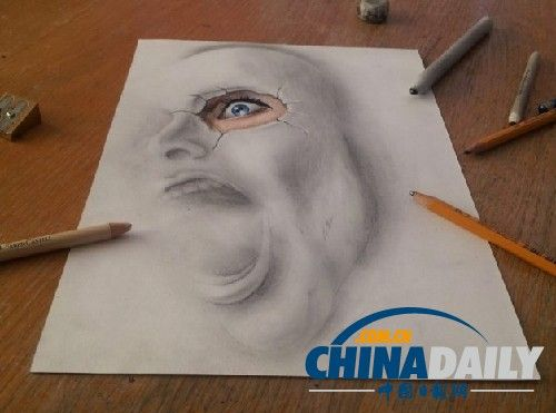 帅气动物铅笔画 全身