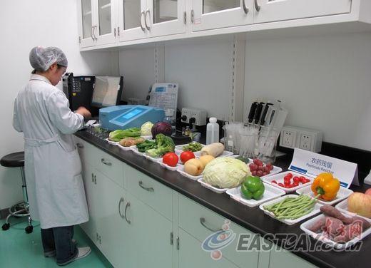 实验室每天要完成食品24全市店指标采样,v食品近50个展架.内容x家门食品图片