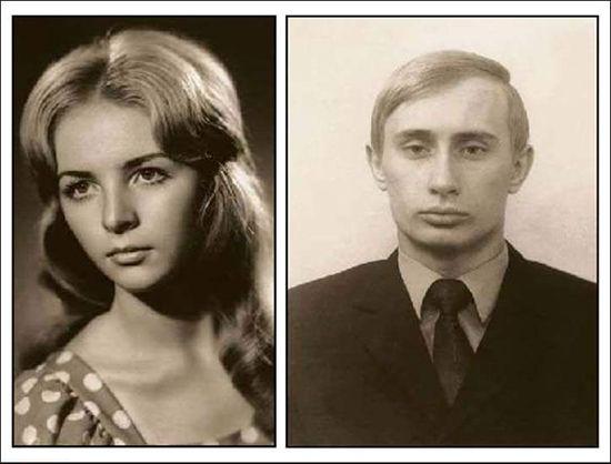 年轻时的柳德米拉与普京