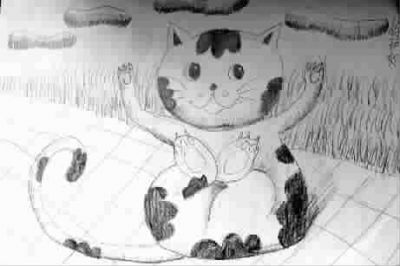小花猫 儿童画