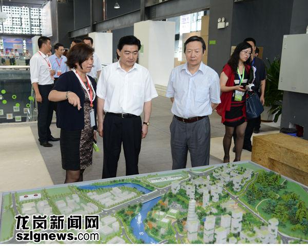 市委书记王荣参观低碳城模型