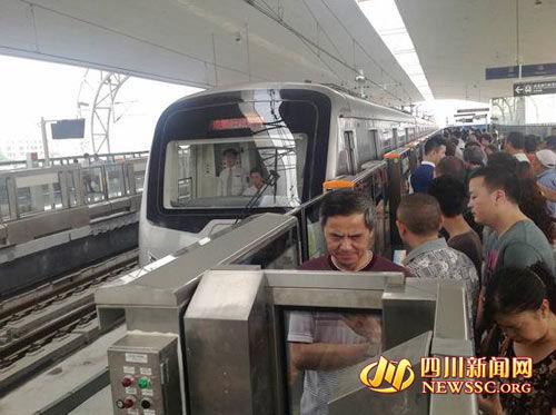 地铁与成灌快铁几乎无缝对接
