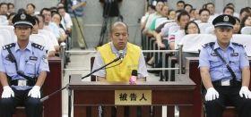 7月10日,王书金在庭审现场。