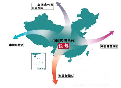 中国自贸区 地图