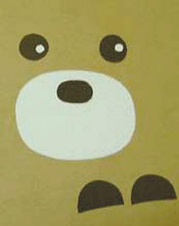 可爱的小熊扇子