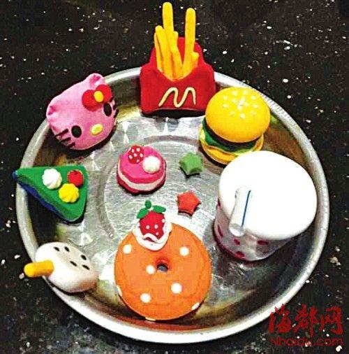 幼儿园蛋糕盘手工软陶