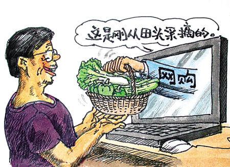 """网上""""菜市场""""近来挺火"""