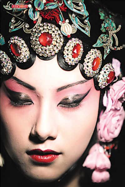 京剧人物手绘红