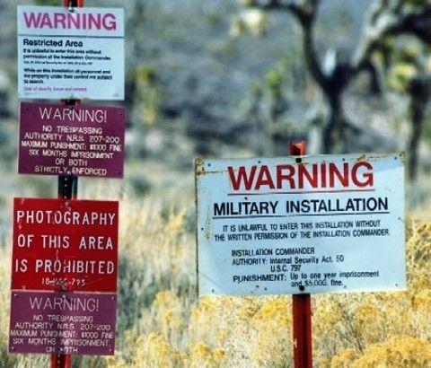 51区外的警告标语。