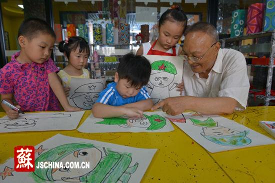 儿童抗战画画作品