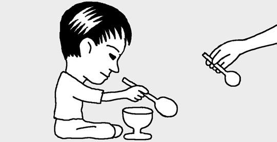 画各种勺子的简笔画