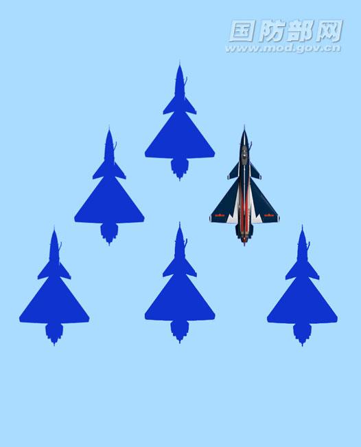 在莫斯科上空飞舞的中国空军飞行员