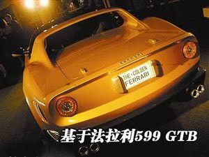 名气最大,也很贵的黄金法拉利跑车高清图片