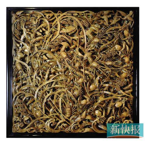 今天到可园看潮州木雕精品展