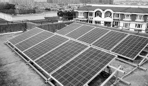屋顶光伏发电设备 资料图片