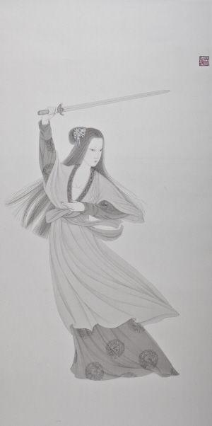 凤凰和龙素描步骤图片