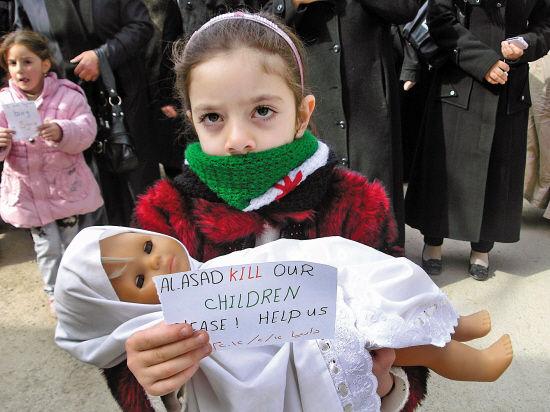 叙利亚战火下的血色童年