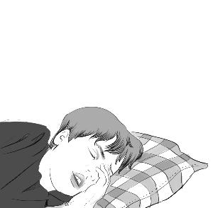 头疼睡觉的图片可爱