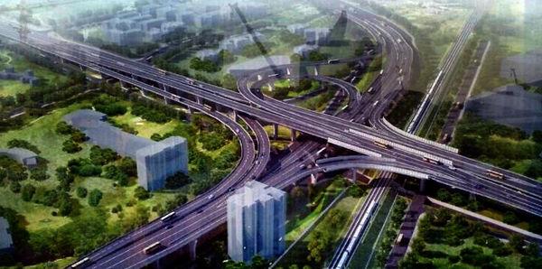 太原市北中环涧河路立交桥成功转体
