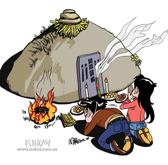 长城背景素材卡通