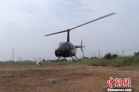 广东惠州出动直升飞机空中查毒(图)
