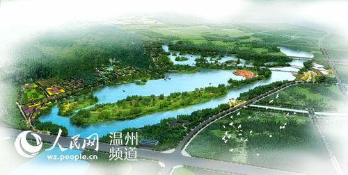 130米长公园设计平面图