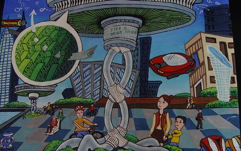 声控鼠标-简易儿童科学幻想画 儿童迎新春画 儿童幻想画图片图片