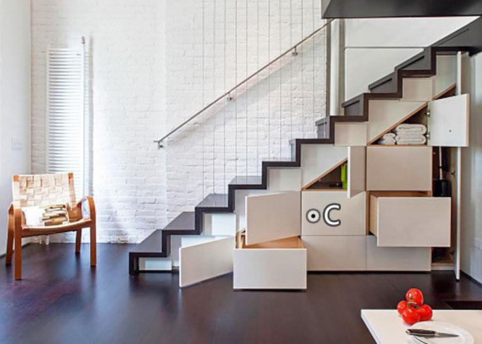 复式小户型楼梯装修效果图图片