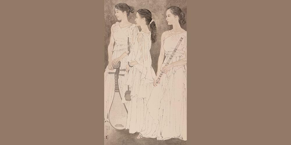 《江南好》(入选中国国家画院30周年庆典大展)