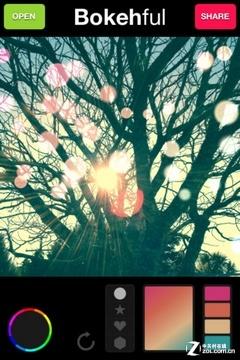 app今日免费:bokehful照片文艺光晕彩绘