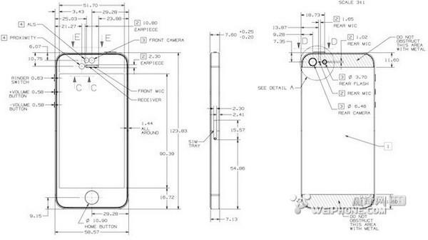 苹果公布iphone 5设计图纸