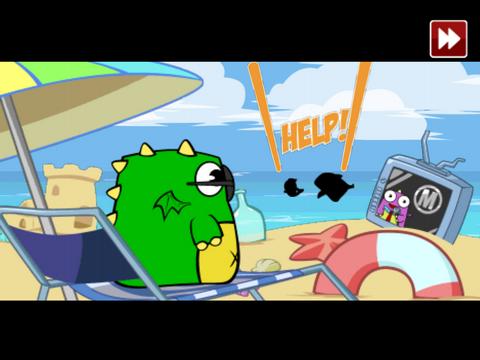 游戏的画面清新可爱,无论是超级英雄小恐龙,npc 恐龙村民,电视台的