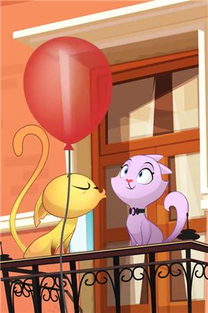 可爱小猫幻想图片