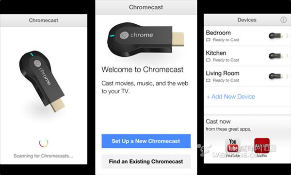 谷歌发布支持Chromecast电视棒的iOS应用