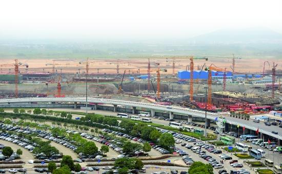 南京禄口国际机场(以下简称机场)t2航站楼初显